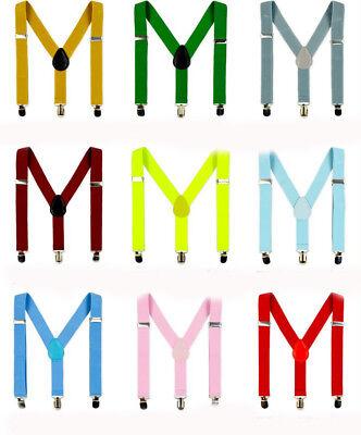 Kinderhosenträger Kinder Hosen Träger Stretch Y Form Style Clips Schmal Rot