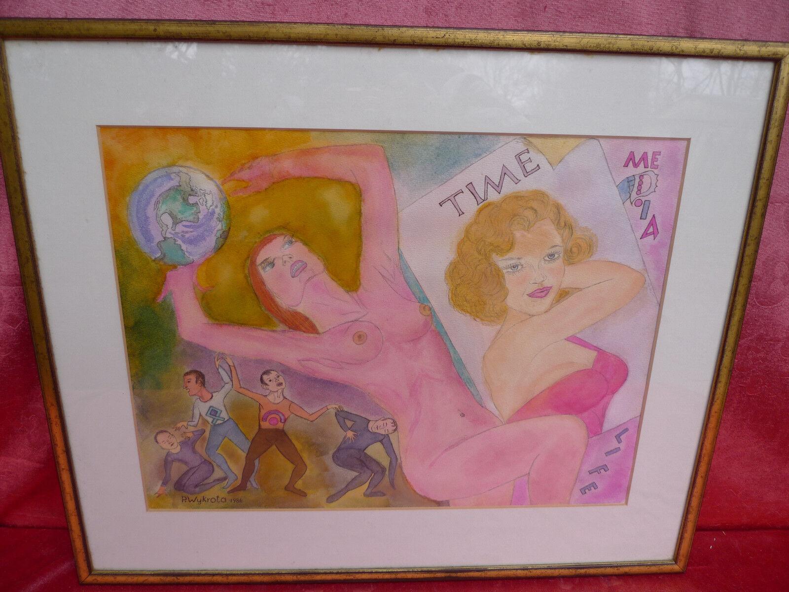 _ beau, vieux tableau (aquarelle) __ eritok __ acte pop __ signé __ pop acte art __ bbf767