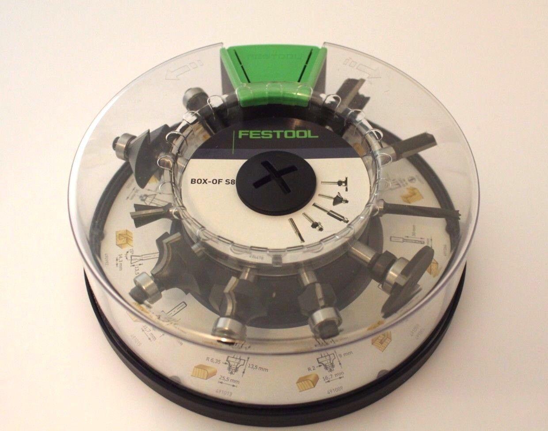 Festool Fräserbox Box-OF HW S8 Mix Nutfräser Dübel  Festool Nr. 498979