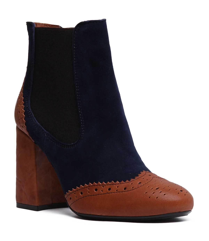 Justin Reece England Olma damen Leather Ankle Stiefel In braun Blau Größe UK 3 - 8