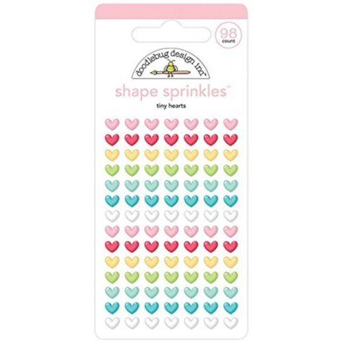 Tiny 5834 Doodlebug Sprinkles Adhesive Glossy Enamel Shapes 98//pkg-tiny Hearts