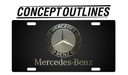 Mercedes Premium Aluminium License Plate Tag Custom For Car or Room T-TMG