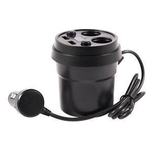 Mechero-de-coche-soporte-para-vaso-de-cargador-de-coche-USB-2-con-2-Cigarrillo-Zocalo-V4V8