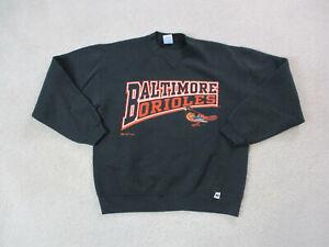 VINTAGE-Baltimore-Orioles-Sweater-Youth-Large-Black-Orange-Baseball-Kids-Boy-90s