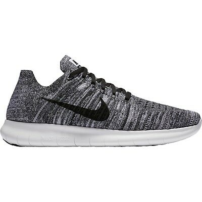 Nike Free RN Flyknit Mens Running Shoes 11 White Black 831069 100 Oreo