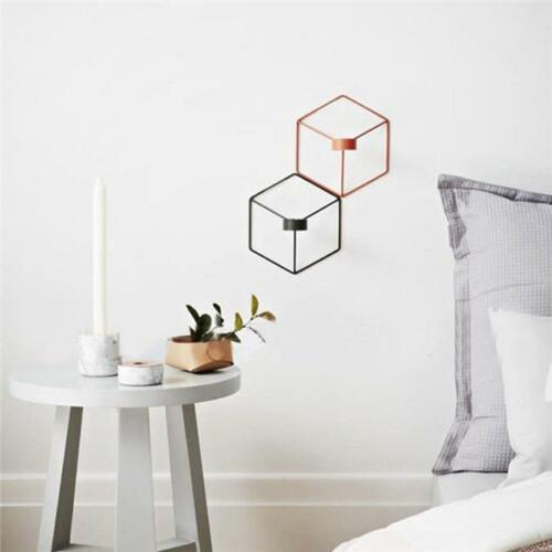 Nordic Style Geometric Candlestick Art Wall Candle Holder Sconce Home Decor ONE