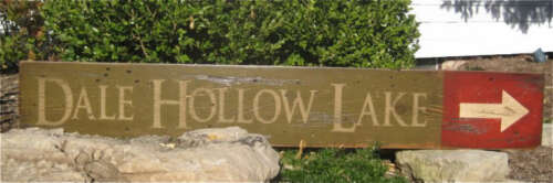 Dale Hollow Lake Hand Painted Wooden Sign HUGE