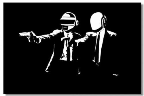 Daft Punk DJ Pop Art Wall Cloth Poster Print 504