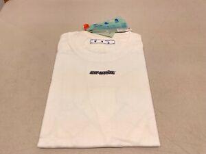 Off-White Marker Short Sleeve Slim Tee - White / Blue - Size S
