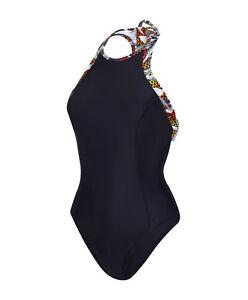 H20 Ultra à gymnastique dames Speedo Maillot bain noir pour Fizz de col haut qIgwwZtC