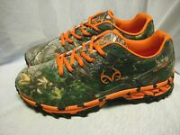 Realtree Outfitters Men`s Athletic Sneakers Size 10(4e) Wide Cobra Orange