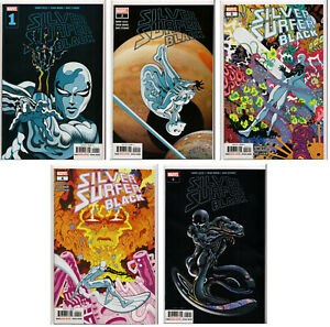 SILVER-SURFER-BLACK-1-2-3-4-5-TRADD-MOORE-VARIANT-COVER-SET-Marvel-Comics