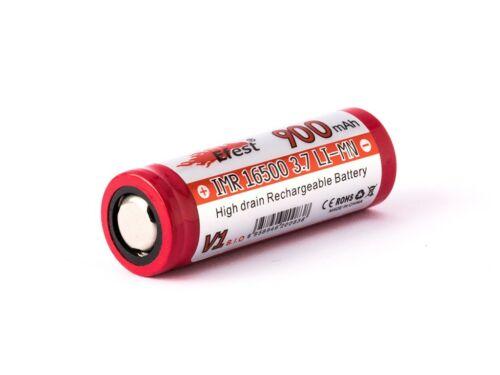 Efest IMR 16500 900mah 3,6V 3.7V Li-ion Akku Pluspol flach