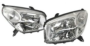 Pair of Headlights lamp for Toyota RAV4 ACA20 Series 2003-2005