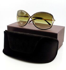 a9b1ed5186226 TOM FORD TF 179 48F RICKIE BROWN GOLD GRADIENT AUTHENTIC SUNGLASSES ...