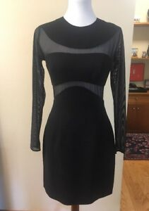 0364cae88e Vintage 90 s ANDREA POLIZZI for REX LESTER Sheer Cutout Dress Black ...