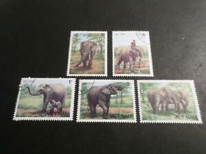VIET-NAM-ASIE-ANIMAUX-ELEPHANTS-LOT-timbres-obliteres-TB-VF-cancelled-STAMPS