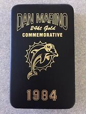 2000 AUTHENTIC IMAGES DAN MARINO 1984 DOLPHINS 24K GOLD CARD IN SCREW DOWN CASE