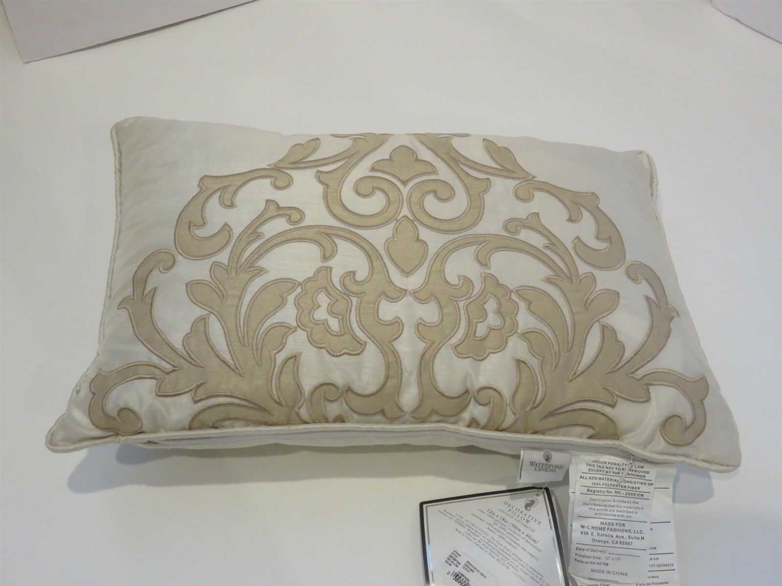 Waterford Copeland Square Deco pillow NWT