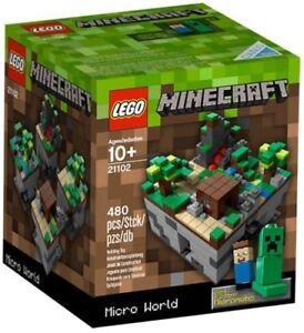 LEGO-CUUSOO-MINECRAFT-MICRO-WORLD-21102-Sealed-NIB