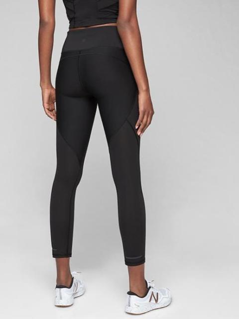 d2c1412693a86b ATHLETA Stealth 7/8 Tight Leggings XSP XS PETITE Black | Running Workout