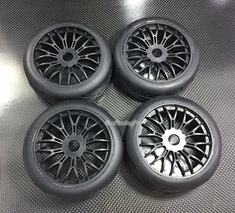 Plastic Wheels + Rubber Radial Tires for TRX4 Scale Trail Crawler