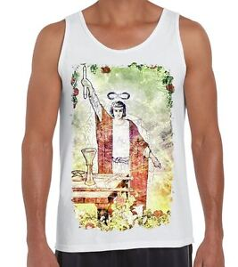 Details about The Magician Tarot Card Large Print Men's Vest Tank Top -  Pagan Wicca Crowley