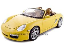 PORSCHE BOXSTER S CONVERTIBLE YELLOW 1:18 DIECAST MODEL CAR BY MAISTO 31123
