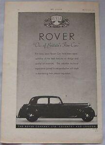 1943 Rover Original advert No.1