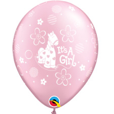 It/'s A Girl Super Script Latex Balloons Baby Shower Qualatex Party Decoration
