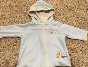 dcec25938f982 Disney Classic Pooh Boys 3 Months Blue Hooded Jacket Sweater Zip Up ...