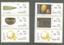 Ireland-new Definitives (6) fine used cto self-adhesive 2017-100 objects-Art