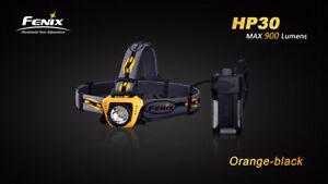 Fenix HP30 Headlamp - Orange - 900-Lumens 2x18650 Batteries (Not included)