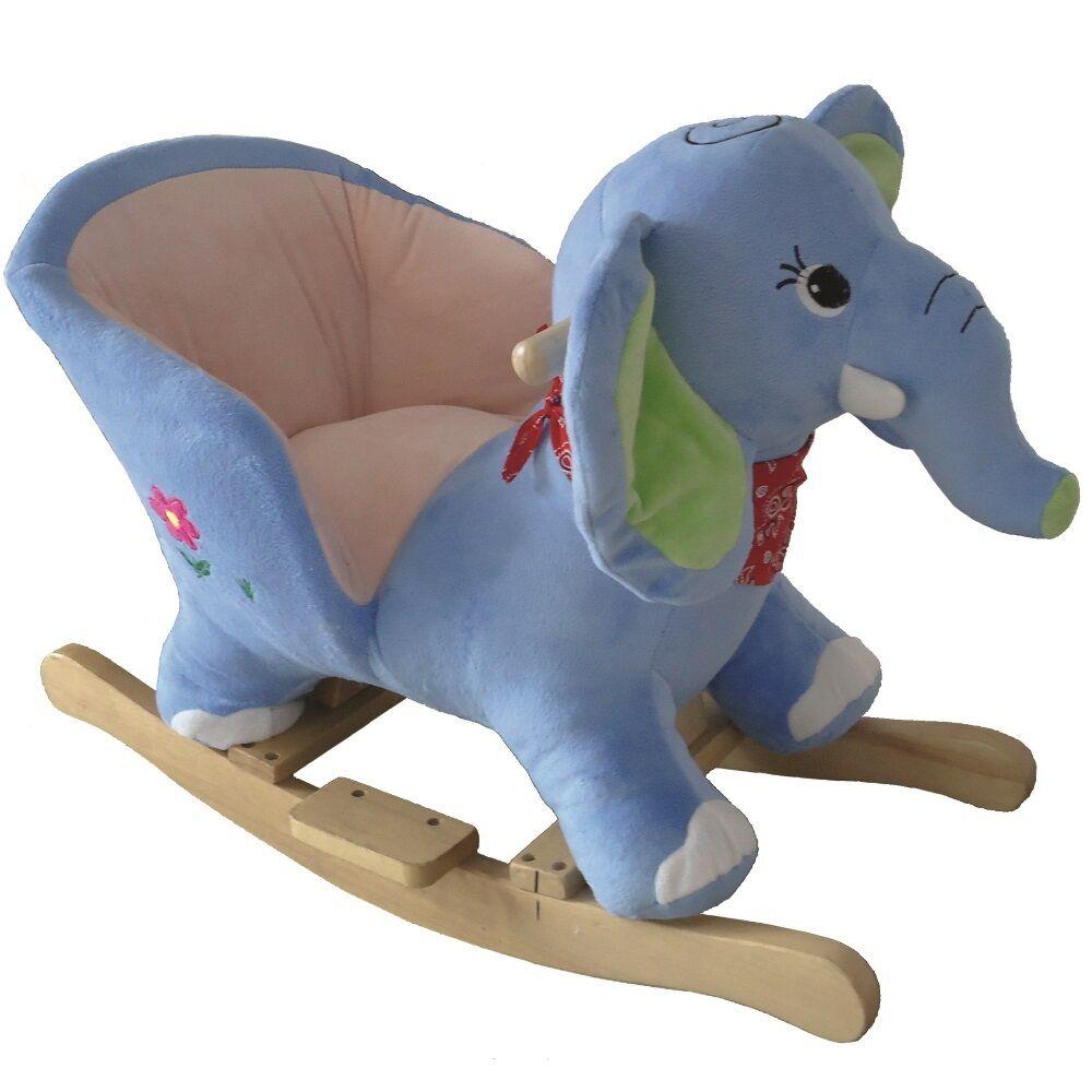 Schaukeltier Babygo Elefant Schaukelspielzeug Plüsch Schaukelpferd Elephant neu