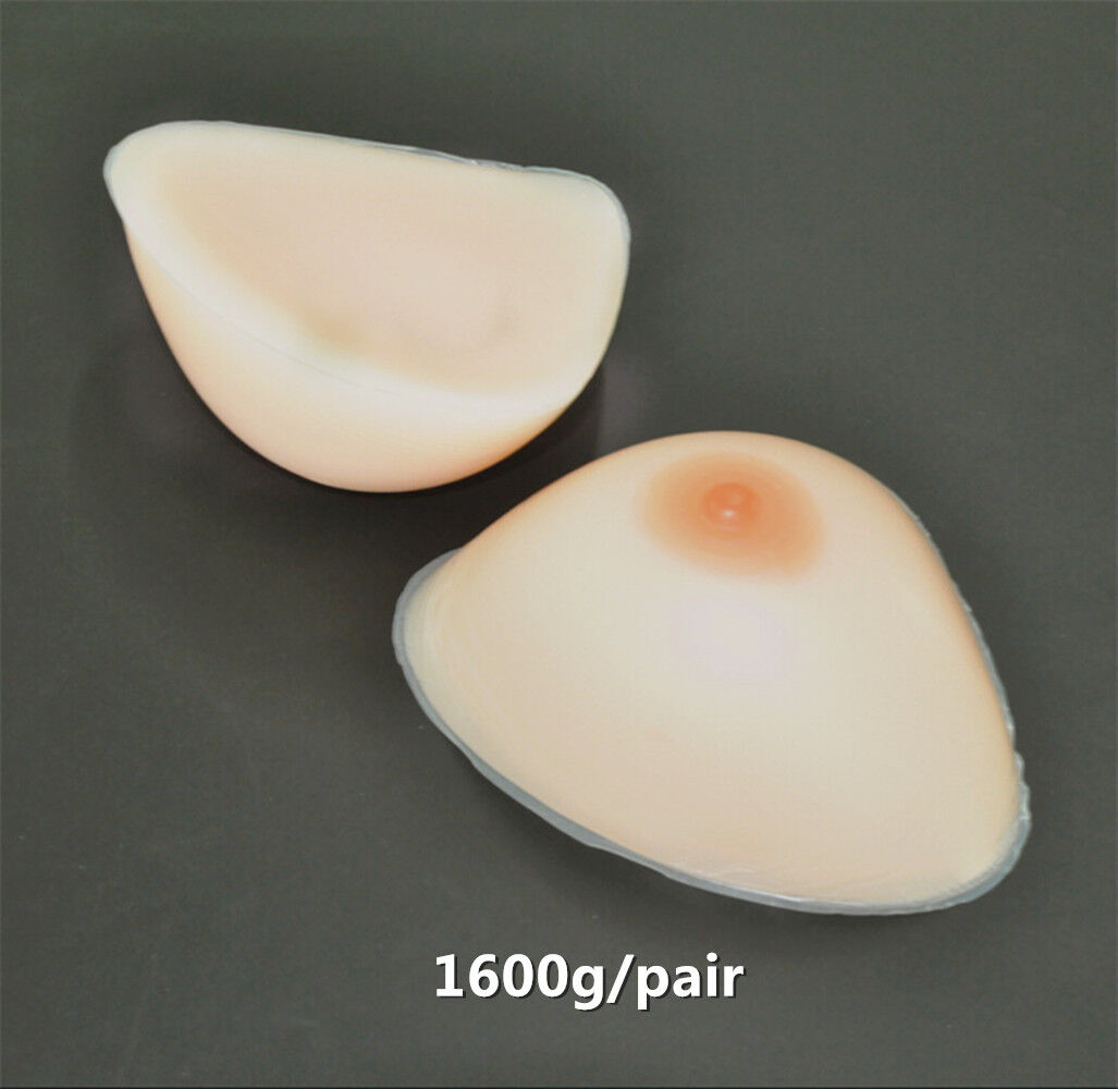 IVITA 1600g pair Fake Breast Forms Silicone Boobs Crossdresser EE Cup gift