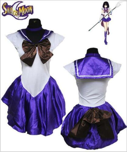 New Hot Sell Girl Sailor Moon Costume Cosplay Uniform Fancy Party Dress /& Gloves