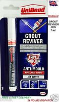 Grout Reviver Pen Unibond Antibacterial Easy to Use Whitener Touch Up Paint New