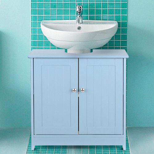 Free Standing Non Pedestal Under Sink Storage Bath Vanity Cabinet Shelves