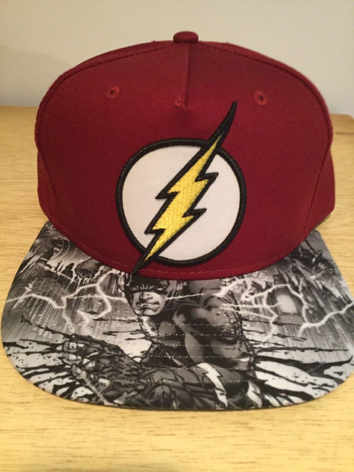 9903a1065e375 amazon d.c. comics one the flash comic book snapback hat. nwt. one comics  size