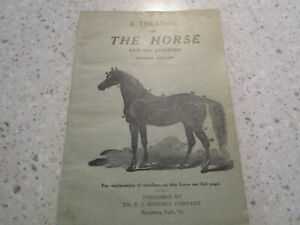 """Vtg 1927 Antique Booklet """"A Treatise On The Horse And His Diseases""""  Dr. Kendall"""