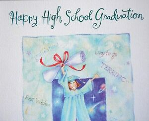 High school graduation greeting card w envelope for a unique woman image is loading high school graduation greeting card w envelope for m4hsunfo