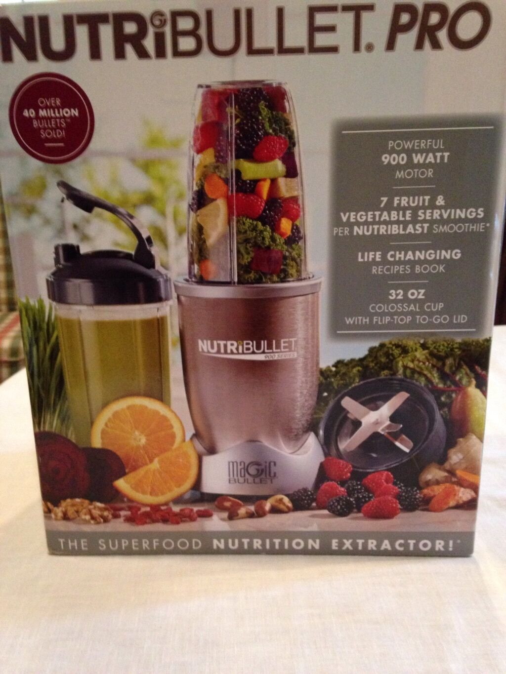 NutriBullet Pro Nutrition Extractor Blender Juicer 900 Watt
