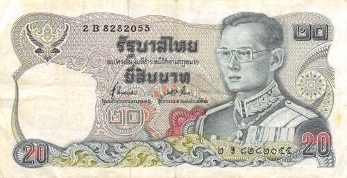 Thailand 20 Baht ND. 1981 P 88 Series 2 B Sign. # 72 Circulated Banknote