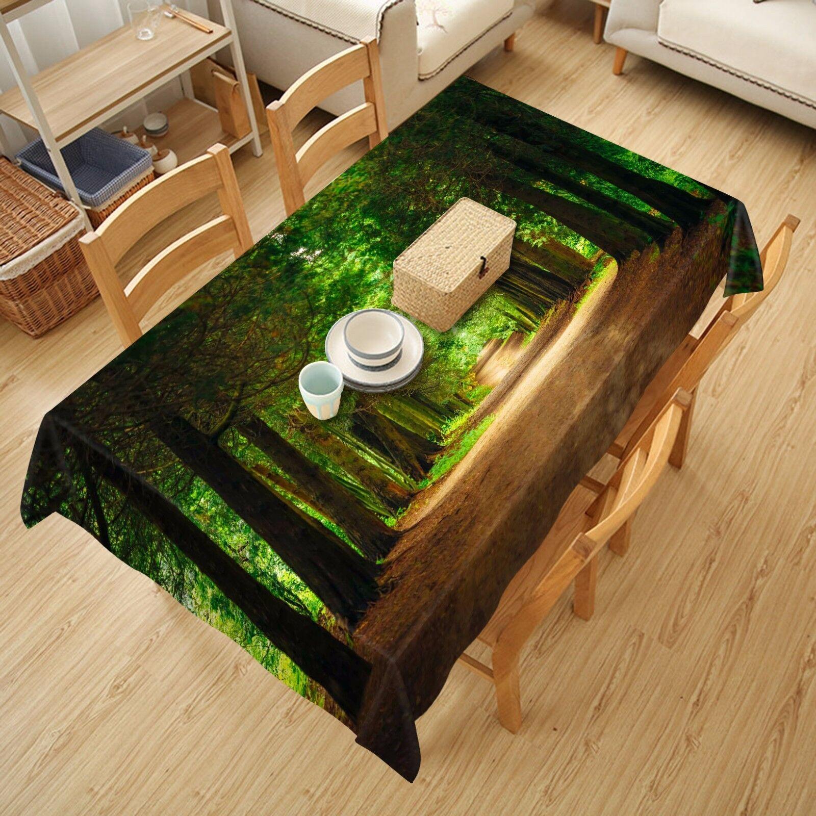3D Forest 66 Nappe Table Cover Cloth fête d'anniversaire AJ papier peint Royaume-Uni Citron