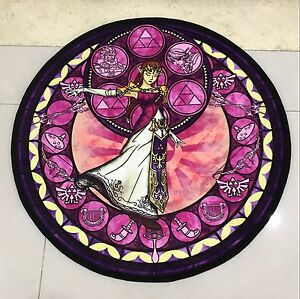 Legend Of Zelda Glass Circle Velboa Floor Rug Carpet Room Doormat