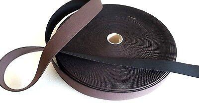 Candido Per Metro Forte Nero/marrone Elastic Webbing 38mm Qualità Selleria, Craft Beltso-mostra Il Titolo Originale