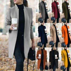 Women's Slim Blazer Suit Long Sleeve Coats Ladies Work Jackets Outwear Cardigan