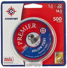Crosman Premier Hollow Point Pellet .22 cal 500 count NEW Free Shipping - NEW