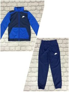 NIKE BOYS TWO TONE BLUE POLY TRACK PANTS/TRACK TOP *SOLD SEPARATELY* CHILDRENS K