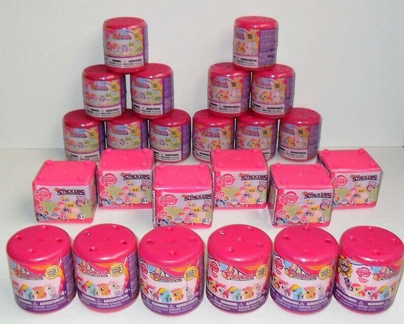 Mi Pequeño Pony fashems serie 3 5 & 6 & stackems serie 1 Lote a granel (24) en total